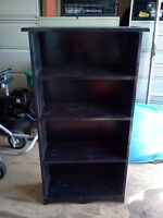 Wood Bookcase - Painted Black