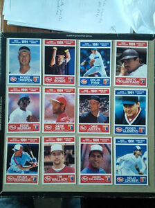 12 - 1991 Post Cereal Baseball Cards