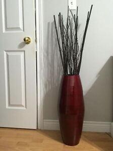MODERN red decorative vase