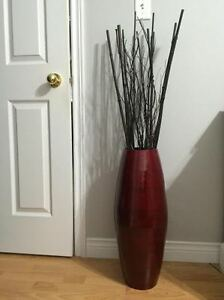 MODERN red decor items (bought at Bouclair).