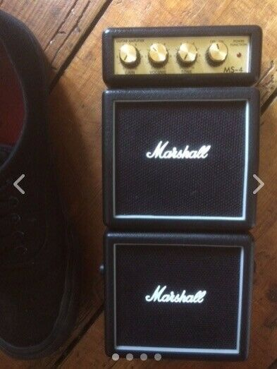 Marshall MS 4 Micro stack electric guitar amplifier portable 9V battery or mains for sale  Whitehall, Bristol