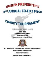 Guelph Firefighter's Charity Co-ed 3 Pitch Charity Tournament