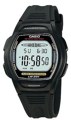 Casio LW201-1AV,   Women's 10 Year Battery Watch, 50 Meter WR, Black Resin Casio Ladies 10 Year Battery