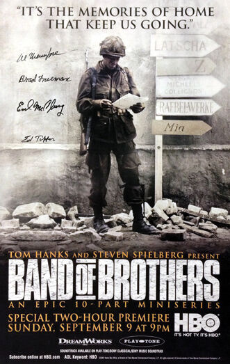 Autographed by Band of Brothers veterans WWII D-Day Dick Winters Poster