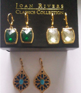 Brand New Designer Joan Rivers Classics Collection Earring Lot