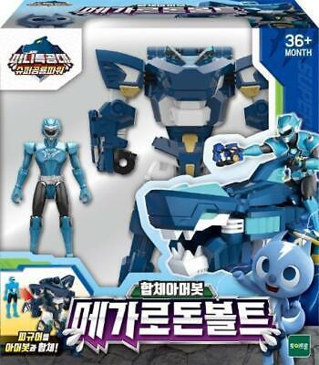 MINI FORCE Super Dinosaur Power 2 Megalodon Bolt Action Figure Toy Korean TV