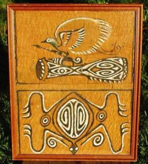 Bird of Paradise Papua-New Guinea Tribal Bark Painting-Authentic. Wembley Cambridge Area Preview