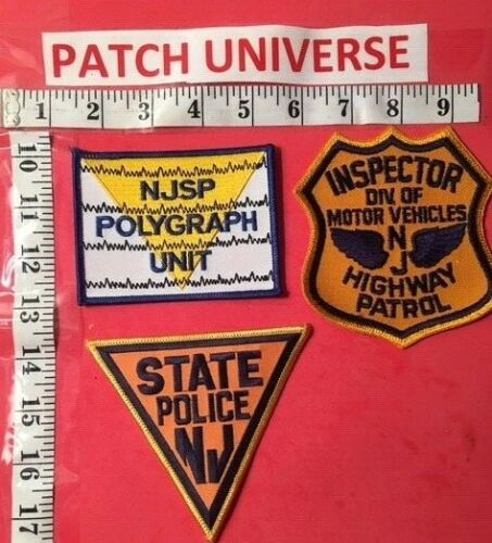 LOT OF THREE DIFFERENT NEW JERSEY  STATE POLICE  SHOULDER PATCHES  K089