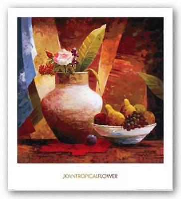 Jung Tropical Print - Tropical Flower Jung K An Art Print 24x24