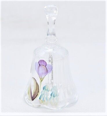 Fenton  Glass Bell Handpainted w/Tulips