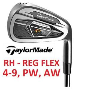 NEW 8PC TAYLORMADE GOLF CLUB SET RH 188560713 4-9, PW, AW RIGHT HAND STEEL SHAFT REGULAR FLEX OUTDOOR SPORTS STEEL SHAFT