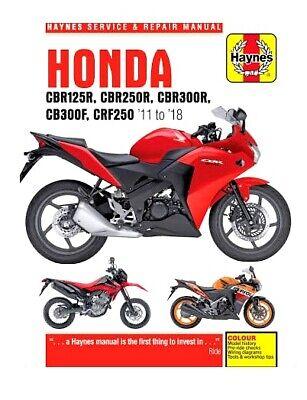 Honda CRF250 CB300F CB300R Haynes Repair Manual Workshop Manual 2013-2018
