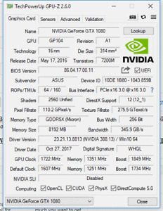 ASUS GTX 1080 Turbo with EVGA Hybrid cooler
