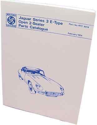 New Genuine Jaguar E-Type Series 3 V12 DHC Parts Catalogue