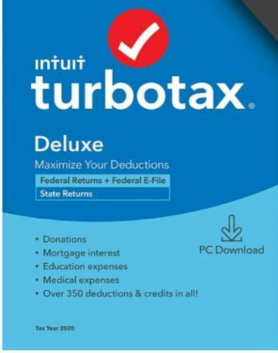 Turbotax Deluxe Federal & State 2020