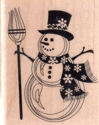 Штампы New INKADINKADO RUBBER STAMP Snowman