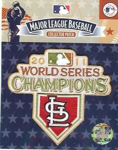 2011 St Louis Cardinals World Series Champions Logo Jersey Patch 100% Authentic