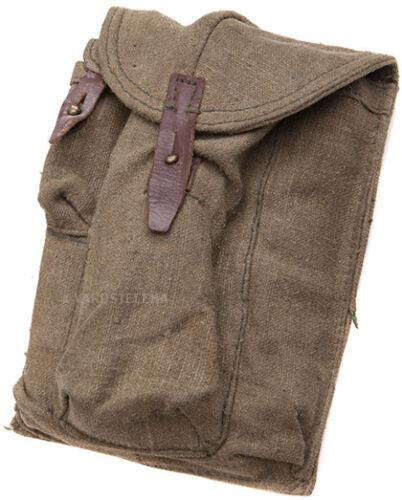 Soviet 762 magazine pouch, surplus, 3 cell brown pouch