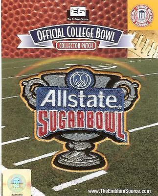2018 Allstate Sugar Bowl Patch Clemson Alabama Official Ncaa Jersey Logo
