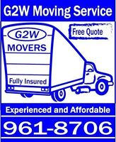 G2W Moving & Delivery - $80.00/hour - Truck and Movers