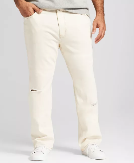 Men's Big & Tall Straight Fit Jeans – Goodfellow & Co Off-White 44×36 Clothing, Shoes & Accessories