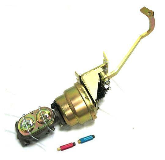 """Universal 7"""" Brake Booster Master Cylinder Frame Mount Pedal Assembly Disc Drum"""
