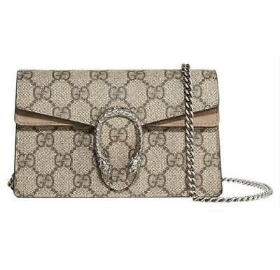 Gucci Mini Dionysus Super Beige Gg Supreme Canvas Cross Body Bag