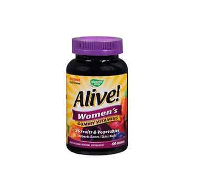 Natures Way Alive Womens Gummy Vitamins Fruit Flavor 60Ct