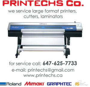 ROLAND / MIMAKI / GRAPHTEC -  PRINTERS CUTTERS SERVICE