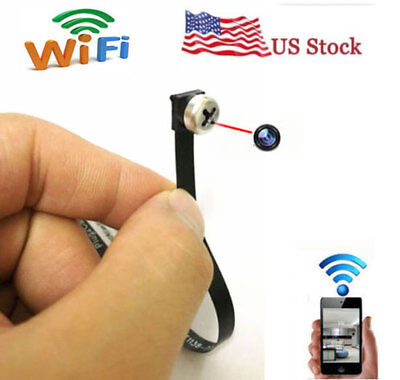 Mini 720P network WIFI IP wireless screw spy hidden camera voice DVR recorder