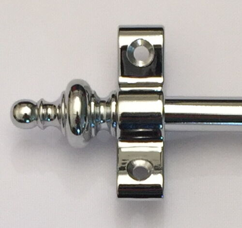 "3/8"" POLISHED CHROME STAIR RODS  URN FINIAL (R03U)"