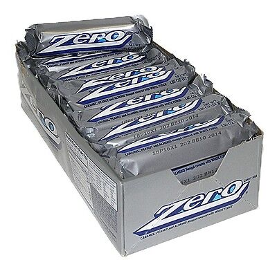 Zero Candy Bar 24ct Caramel Peanut Nougat Covered w/ White Fudge FREE SHIPPING