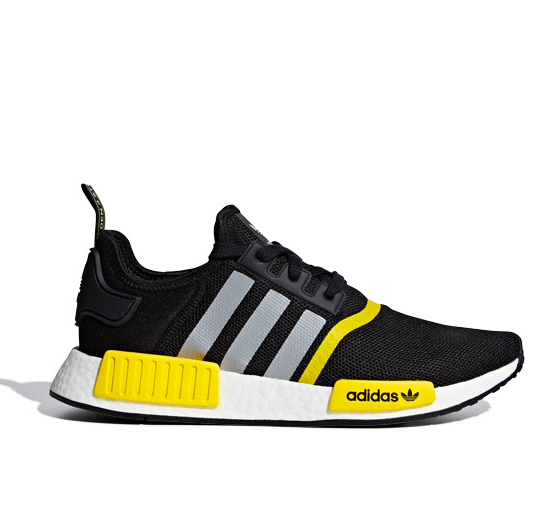 Adidas NMD R1 Running Gym Athletic Shoes FV7279 Black Yellow Size 4 12 | eBay