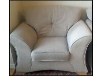 Oatmeal 2 seater sofa & 2 armchairs