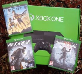 Xbox One with games (boxed).