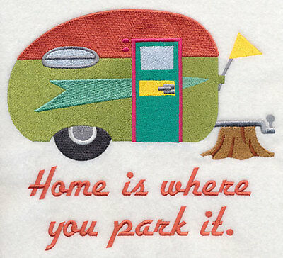CAMPING HOME IS WHERE U PACK IT SET OF 2 BATH HAND TOWELS EM