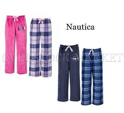 NEW! YOUTH BOYS & GIRLS NAUTICA 2 PACK FLEECE SLEEP PANTS! SO SOFT! (Fleece Girls Sleep Pant)