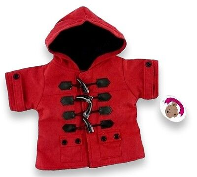 Teddy Bears Clothes fit Build a Bear Teddies Red Duffel Coat Jacket Clothing