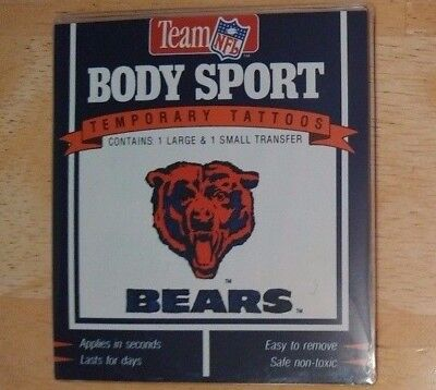 dy Sport Temporary Tattoos  (Chicago Bears Tattoos)