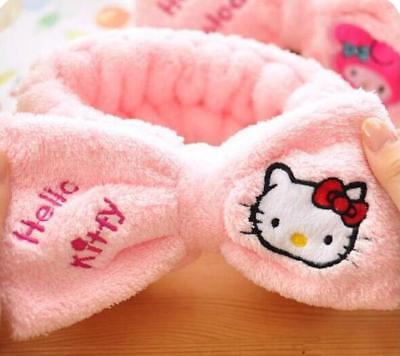 Hello Kitty SPA Shower Bath Beauty Salon Makeup Hair Band Elastic Soft Headband
