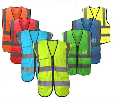 High Safety Safty Visibility Reflective Vest Construction Traffic Work Usa