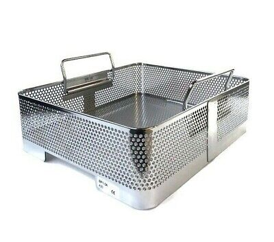 Genesis Sterilization Half Length Basket Bp1-3a Perforated Stainless Steel Tray