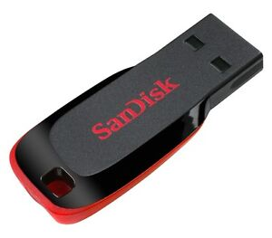 SANDISK 4GB CRUZER BLADE USB MEMORY STICK DRIVE PEN UK