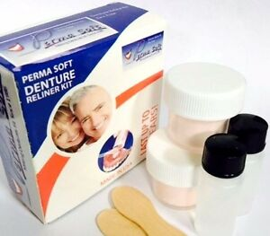Denture reline kit oral care ebay perma soft denture reline denture reliner kit 2 liner kits included solutioingenieria Image collections