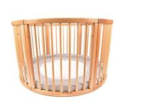 Solid Wood Round Playpen Play Pen with soft padded centre cushion Diameter 120 cm