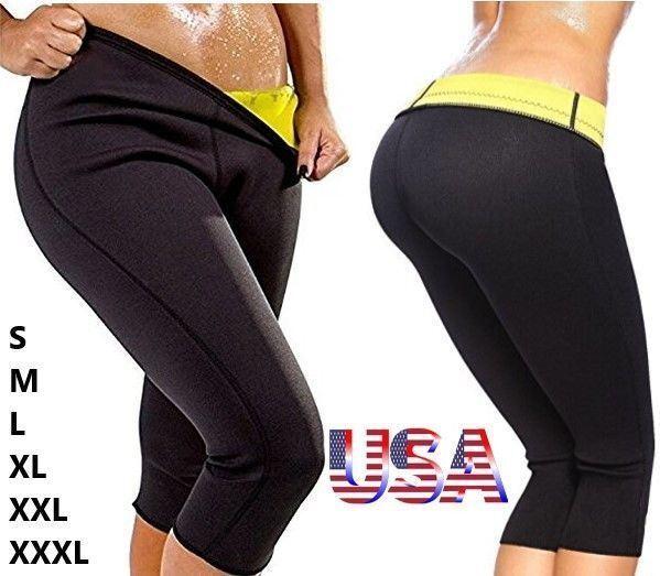 Sauna Pants Body Shaper Hot Sweat Weight Loss Slimming Therm