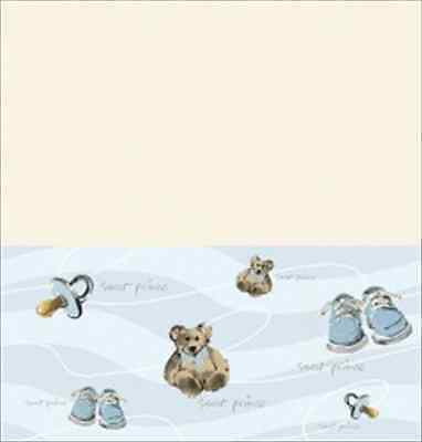 Sweet Prince Tablecover Ivory Ivory,Blue, Brown  Great  For a Boy Baby - Prince Decorations For Baby Shower