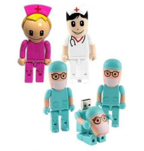 100-Capacity-Guaranty-Doctor-Pink-Nurse-Model-USB-2-0-Memory-Stick-Flash-drive
