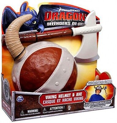 Dragons Defenders of Berk Viking Helmet & Axe Roleplay Toy (Toy Viking Helmet)