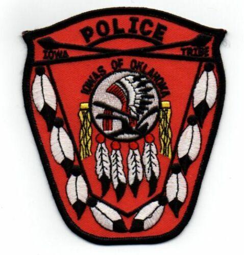 IOWAS OF OKLAHOMA OK POLICE TRIBAL NEW PATCH SHERIFF